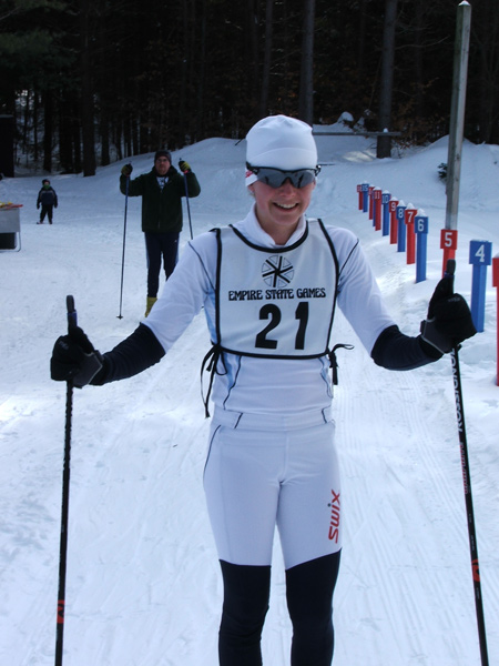 Rockett on skis...Carly Wynn at last years Shen Classic