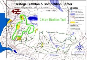 2.0 km biathlon relay loop